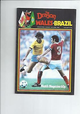 Wales v Brazil at Cardiff  Football Programme 1983