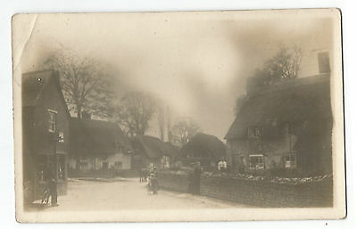 Bucks Marsh Gibbon? Street Scene Real Photo 1924 Vintage Postcard 7.1