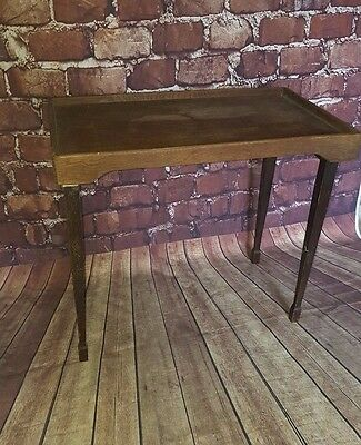 Antique Vintage Folding Wooden Servants Butlers Serving Tea Dinner Tray Table
