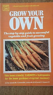 Grow Your Own CARROTS Vegetables Seeds Marshall Cavendish Handbook Part 34