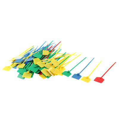 120mm x 3mm Assorted Color Plastic Self-locking Lables Cord Tie Zip 100pcs