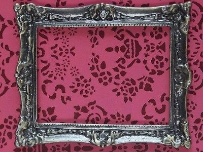 Antique Finish Solid Brass Frame, Small, Dolls House Miniature Picture Frame