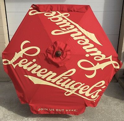 Leinenkugel's Leinie's 7' Umbrella  JOIN US OUT HERE ~ Metal Tiltable NEW in BOX