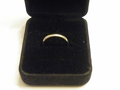 Vintage Solid 14K White Gold Wedding Ring Band 3mm Size 7.5 ~ 2.4 Grams