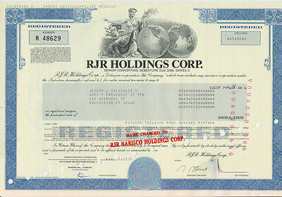 10 x RJR HOLDINGS CORP., GROUP, NABISCO HOLDING, GROUP, und NAME CHANGED