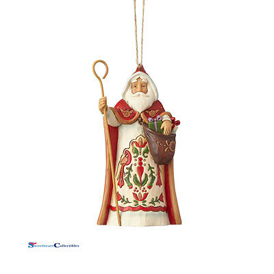 Jim Shore Around The World  4058820 Austrian Santa Ornament 2017