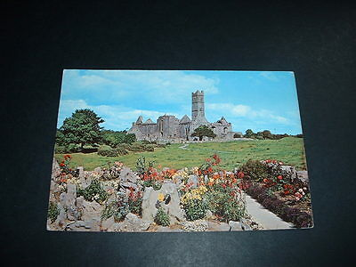 IRISH POSTCARD QUIN ABBEY Co CLARE IRELAND