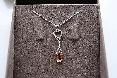Clogau Gold, Sterling Silver and 9ct Rose Gold Lovespoon Pendant 3SLSP1