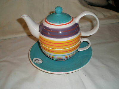 Whittard Of Chelsea Teapot With Matching Cup & Saucer