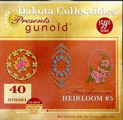 Dakota Collectibles Gunold Fashion Heirloom #5 40 Designs CD Embroidery NearMint