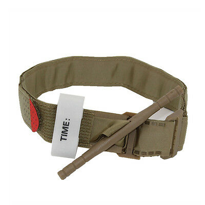 khaki Tourniquet Stop Bleeding Medical Tool First Aid Blood Loss Control