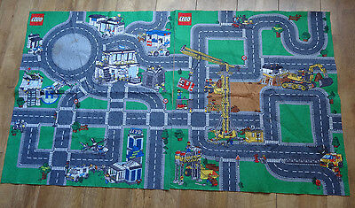 Two Genuine Lego City Felt Floor Play Mats - Police & Construction