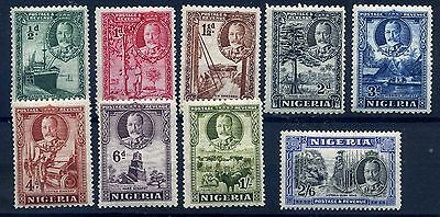 Nigeria 1936 pictorials selection fresh MH