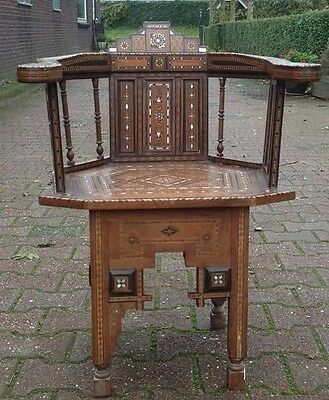 Antique Islamic Arabic  Ottoman Arm Chair 19Th Century-Free Shipping-