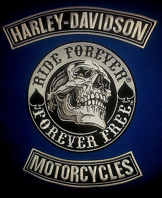 Harley Davidson Rockers with Ride Forever, Forever Free Patch