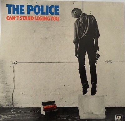 """The Police - Can't Stand Losing You  7"""", Single, Blue Vinyl"""