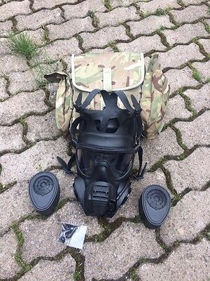 UK British Army NEW issued MTP GSR General Service Respirator with pouch size 3