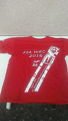 T-SHIRT Audi R18 24 heures du Mans size XL WEC 2016 Audi Sport WORLD OF CIRCUITS