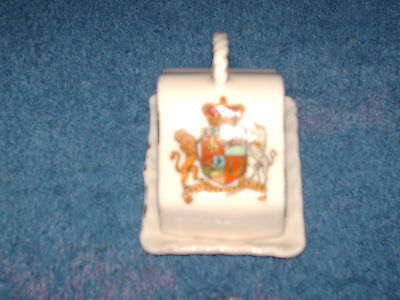 vintage gemma crested china  south african union miniature lidded  cheese dish