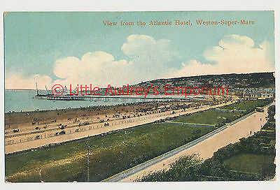 Old Postcard 1906 View from the Atlantic Hotel Weston-Super-Mare AM087