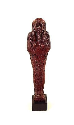 Truly Exceptional Red Faience Ushabti for Nahkt Heneb
