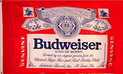 BUDWEISER BEER FLAG NEW 3X5FT banner sign