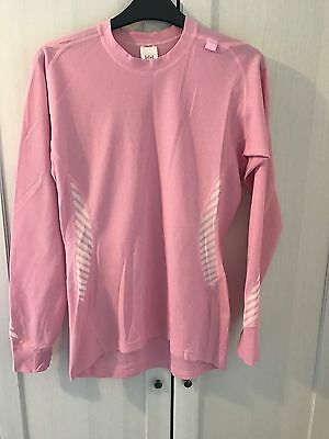 Ladies Helly Hansen Pink Base Layer / Thermal Top - Size Large