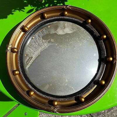 VINTAGE CONVEX MIRROR 1950s BY ATSONEA SUPERIOR PRODUCTS.MADE IN ENGLAND.