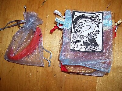 5 Each,quit Wasting Bate,perforated Strong Nylon Lu's Bait Bags,catch More Fish.
