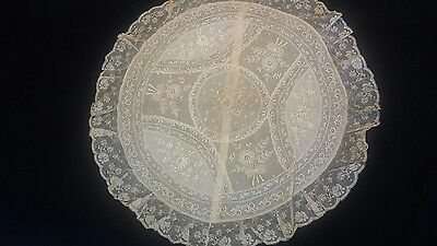 Antique Normandy Lace Pillow Case (round)