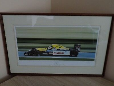 Nigel Mansell -Canon Williams Renault, ltd edition print by Ivan Berryman