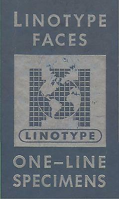 1950 Mergenthaler Linotype PRINTING TYPE SPECIMEN CATALOG; Dingbats Decor border
