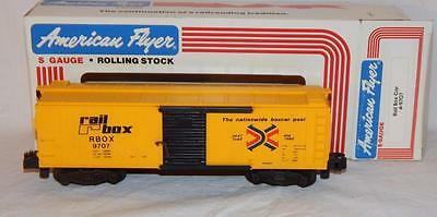 American Flyer 4-9707 S Gauge Rail Box RBOX 9707 Yellow Box car S scale 1984