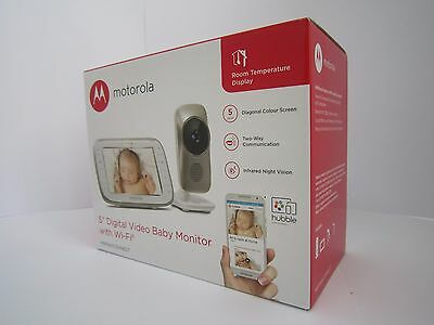 "MOTOROLA  MBP845CONNECT 5"" DIGITAL VIDEO BABY MONITOR WITH Wi-Fi RRP £219 NEW"