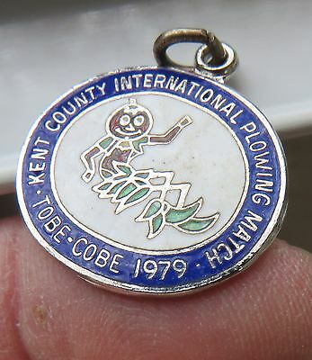 KENT COUNTY 1979 Plowing Match - Vintage Sterling Bracelet Charm Chatham