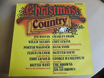 CHRISTMAS COUNTRY - Various Artists - VINYL LP.  VG