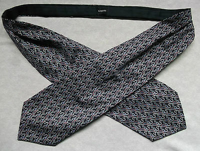 CRAVAT VINTAGE MENS 1980s MOD MODERNIST LLOYD ATTREE & SMITH NAVY RED PAISLEY
