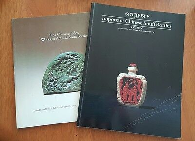 Sothebys Important Chinese Snuff Bottles Jade Art London New York 1988 1981