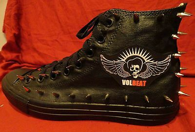 VOLBEAT Metal Punk Rock Band CUSTOM STUDDED Converse shirt Sneakers SHOES SPIKES
