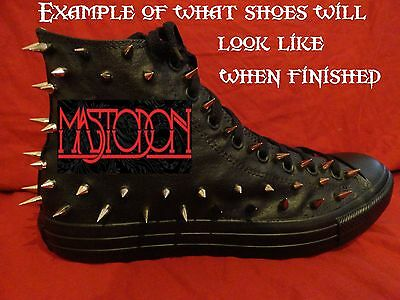 MASTODON Metal Rock Band CUSTOM STUDDED Converse shirt Sneakers SHOES w SPIKES