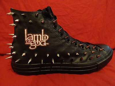 LAMB OF GOD Metal Punk Rock CUSTOM STUDDED Converse shirt Sneakers SHOES SPIKES