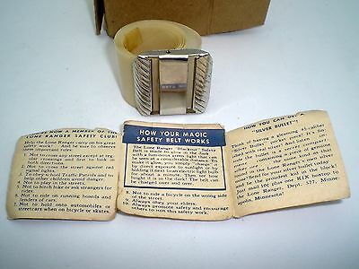 Lone Ranger Safety Belt 1941 Kix Cereal Blackout Luminous Belt W/ Mailer - Paper