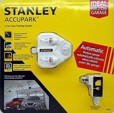 Stanley Accupark 2 Car Laser Parking System Automatic Motion Sensor & AC Adapter