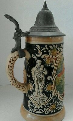 Vintage Heidelberg Perkeo Fass Small Liddled German Beer Stein