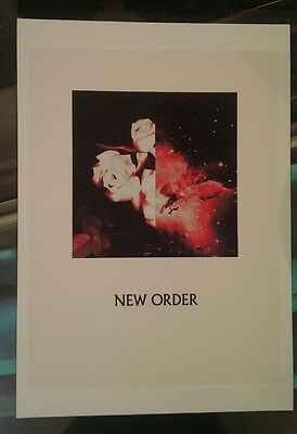 New Order rare promotional poster A3 super quality heavy canvas paper