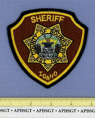 BOUNDARY COUNTY SHERIFF IDAHO ID Police Patch WATERFALL DEER