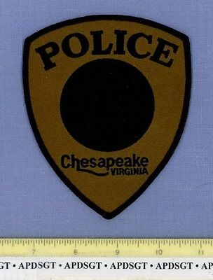 CHESAPEAKE ~ SWAT ~ VIRGINIA VA Police Patch SUBDUED TOWN SEAL