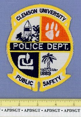 CLEMSON UNIVERSITY DPS SOUTH CAROLINA SC School College Campus Police Patch CAT