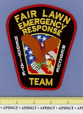 FAIRLAWN ~ SWAT (Color) ~ NEW JERSEY NJ Sheriff Police Patch HOSTAGE NEGOTIATION