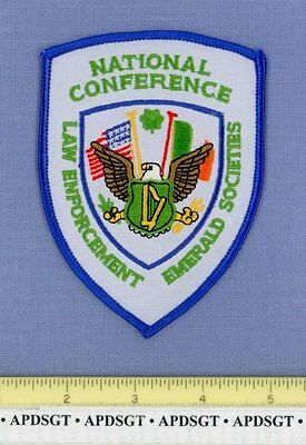 NATIONAL CONFERENCE LAW ENFORCEMENT EMERALD SOCIETIES Police Patch PIPES DRUMS